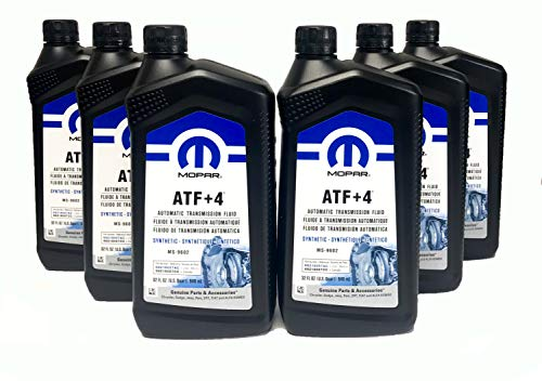 Mopar 68218057AB ATF+4 Automatic Transmission Fluid, 1 Quart (6 Pack)