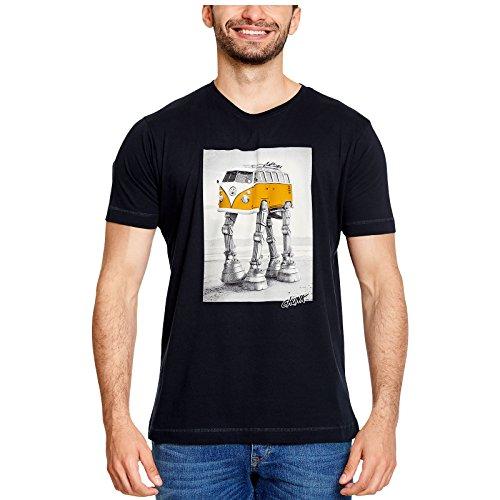 Star Wars Elbenwald Chunk T-Shirt Walking Camper Frontprint für VW Fans Herrenshirt blau - XXL
