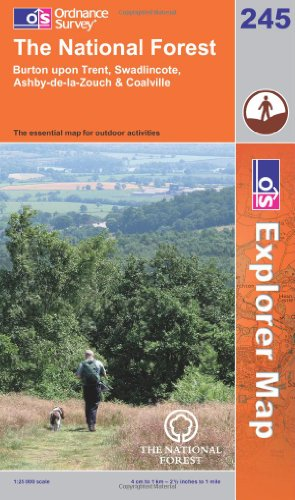 OS Explorer map 245 : The National Forest