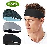 LATTCURE Sport Stirnband, Stirnband 3 Pack, Schweißband, Stirnband Anti Rutsch, für Jogging,...