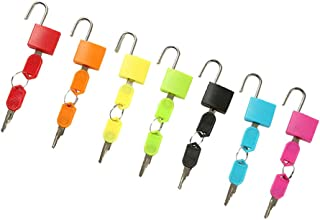 Prettyia 7 Pieces Multi-color Key Lock Kit Kids Montessori Toy Color Cognition Training Tool Family Valuables Protection
