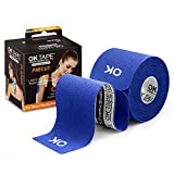 OK TAPE Kinesiology Tape (20 Strips Precut) - Latex Free, Waterproof Athletic Tape Sports for Pain Relief, Supports and Stabilizes Knee&Muscles&Joints | 2inch x 16.4 feet Roll, Navy Blue