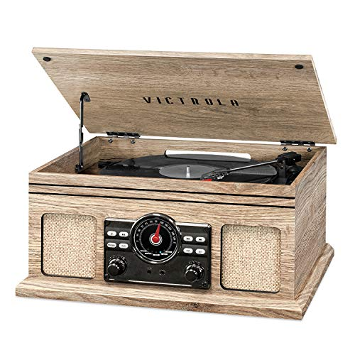 Victrola 4-in-1 Nostalgic Bluetooth Record Player with 3-Speed Record...