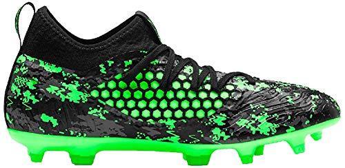 Puma Herren Future 19.3 Netfit FG/AG Fußballschuhe, Schwarz Black-Charcoal Gray-Green Gecko, 47 EU