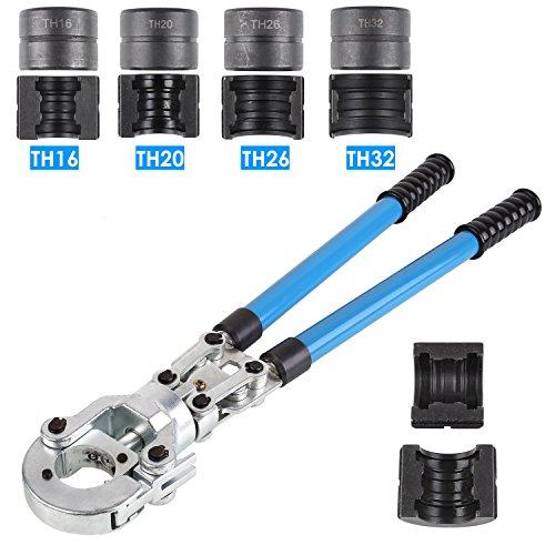 FIXKIT Rohrpresszange TH Kontur Presszange mit Mehrschichtbacken 16mm-20mm-25mm-32mm für PEX-Rohre, Verbundrohr (TH)