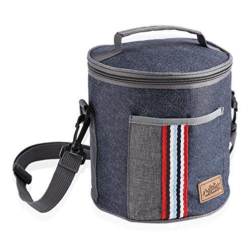 Thermo-koeltas, draagbaar, voor lunch, reizen, opbergtas met draagtas voor picknick, heren, dames, volwassenen, werk, kinderen 18.5×23CM blauw