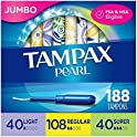 188-Count Tampax Pearl Plastic Tampons