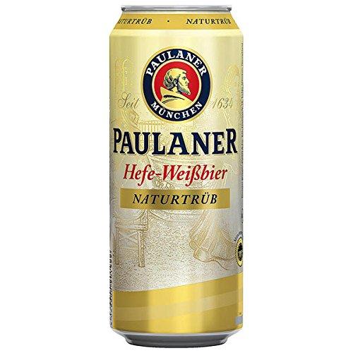 Paulaner Hefeweißbier Naturtrüb, 24er Pack, (24 x 500 ml Dosen) inc. 6.00€ EINWEG Pfand