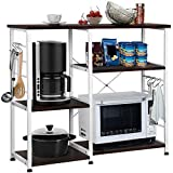 Yaheetech 35.5 inches Kitchen Baker's Racks Microwave Stand Utility Oven Stand Shelf Storage Cart...