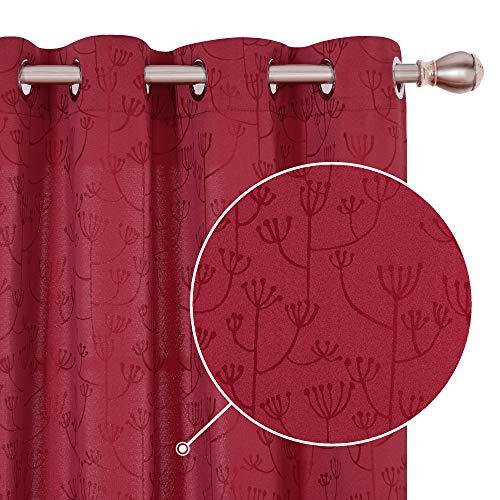 cortinas opacas rojas