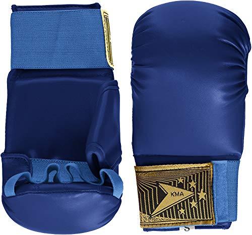 Vader Sports Karate-Handschuhe, Karate-Handschuhe, Vollkontakt, für Karate-Training, Sicherheitshandschuhe (Blau, Größe L)