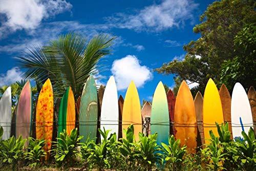 qwwqww Rompecabezas de Tabla de Surf para Adultos Rompecabezas de 1000 Piezas 50x75cm