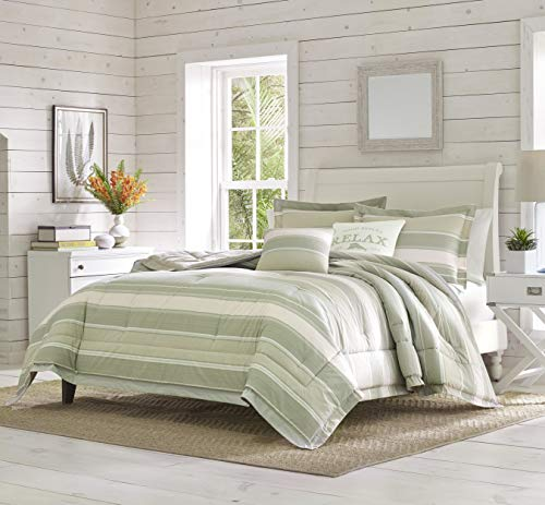 Tommy Bahama | Serenity Bedding Collection Quality Ultra Soft Breathable Cotton Comforter, All Season Premium 5 Piece Set, Designed for Home Hotel Décor, King, Green