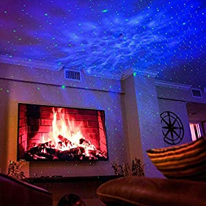 BlissLights Sky Lite - LED Laser Star Projector, Galaxy Lighting, Nebula Lamp for Gaming Room, Home Theater, Bedroom Night Light, or Mood Ambiance (Green, Blue)