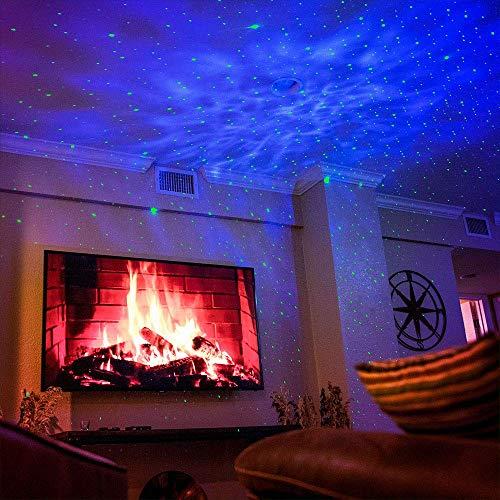 Product Image 6: BlissLights Sky Lite – Laser Star Projector w/ LED Nebula Cloud for Game Room Decor, Bedroom Night Light, or Mood Lighting Ambiance (Green, Blue)
