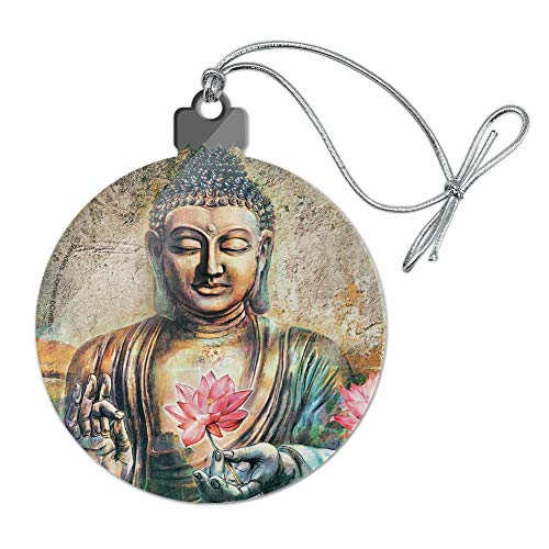 GRAPHICS & MORE Buddha Pink Lotus Flowers Serenity Acrylic Christmas Tree Holiday Ornament