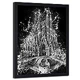 carowall CAROWALL.COM Poster mit schwarzem Rahmen Sagrada