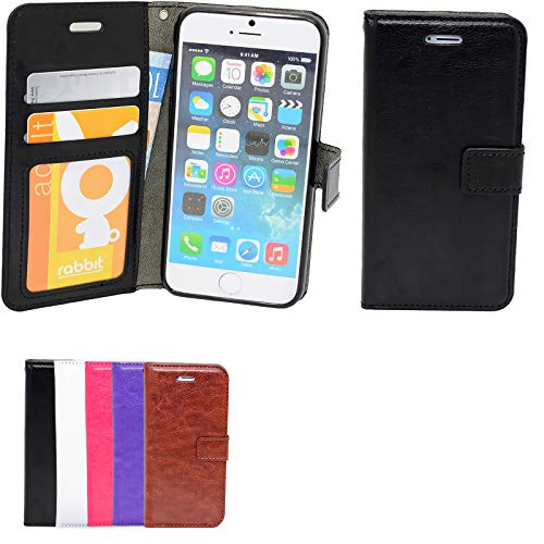 iPhone 5/5s/SE - Plånboksfodral i läder med ID ficka
