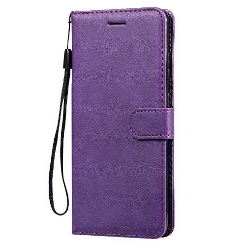 Hülle für Galaxy S20 Ultra Hülle Leder,[Kartenfach & Standfunktion] Flip Case Lederhülle Schutzhülle für Samsung Galaxy S20 Ultra - EYKT050612 Violett