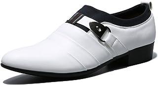 Seakee Men's Slip On Tuxedo Oxford Monk Strap Dress Shoes