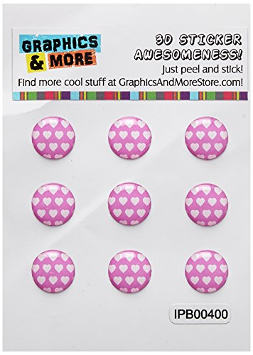 Graphics and More Sweet Heart Pattern Light Pink White Home Button Stickers Fits Apple iPhone 4/4S/5/5C/5S, iPad, iPod Touch - Non-Retail Packaging - Clear