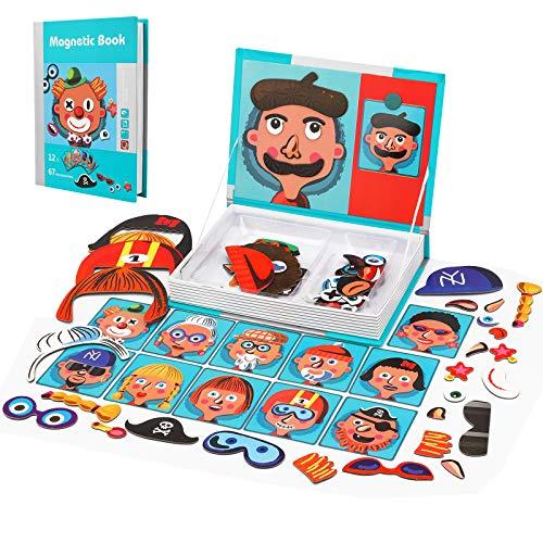 Colmanda Juguete de Montessori, Juguete Educativo Puzzles para Niños, Tablero Educativo Pizarra Juguete Puzzles para Niños 3 4 5 Años (A)