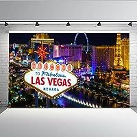 Mehofoto 7 x 5 ft fondo noche escena de las Vegas fotografía fondo cielo rueda alto edificios Billboard fondo para Studio Props