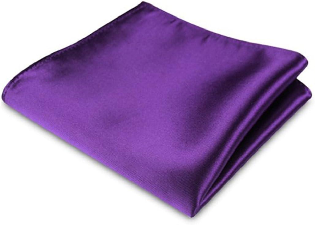 Gilroy Men's Satin Imitated Silk Handkerchief Hanky Pocket Square for Wedding Party
