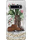 Horse Girl Cactus Flower Phone Case for Samsung Galaxy S10 - Silicone Case with 3D Printed Design, Slim Fit, IMD Soft TPU Cover