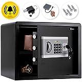 KESSER® Elektr. Tresor | 35x25x25cm | Inkl. Batteriebox | Elektronischer Safe | 3x...