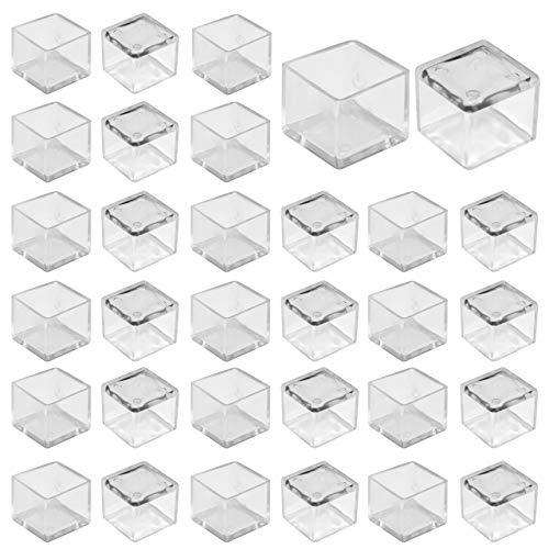 Mogokoyo Stuhlbeinkappen Silikon Stuhlsocken Stuhlbein Schutz Möbel Furniture Tisch Hocker Bein Covers Pads Füße Protectors für 25MM Quadratisch Beine (32 Stück)