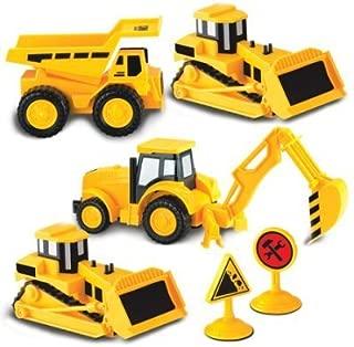 Kid Galaxy 4 Pack Mini Construction Truck Set Vehicle