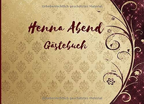 Henna Abend Gästebuch: Erinnerungsbuch und Andenken für die Braut | Gästebuch für Kina Gecesi |...