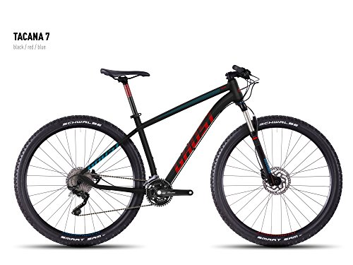 Ghost TACANA 7Nero/Rosso/Blu–Model 2016, Schwarz Rot Blau