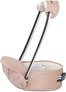 SONARIN Multifonctionnel Hipseat Baby Carrier Porte-b/éb/é,Free Size,Toddler Support de si/ège de hanche,ceinture de transport avant,4 positions de transport,cadeau id/éal Rouge