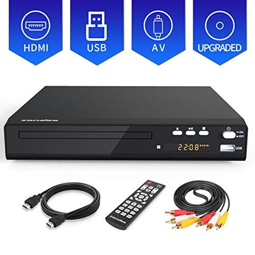 Big Save! Sandoo MP2208 DVD Player, Upgraded Metal Shell, Region Free Discs for TV with HDMI/AV Outp...
