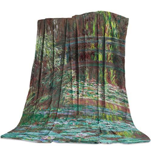 HomeDecorArt Flannel Fleece Luxury Bed Blanket 39'' X 49'', European Impressionism Claude Monet -