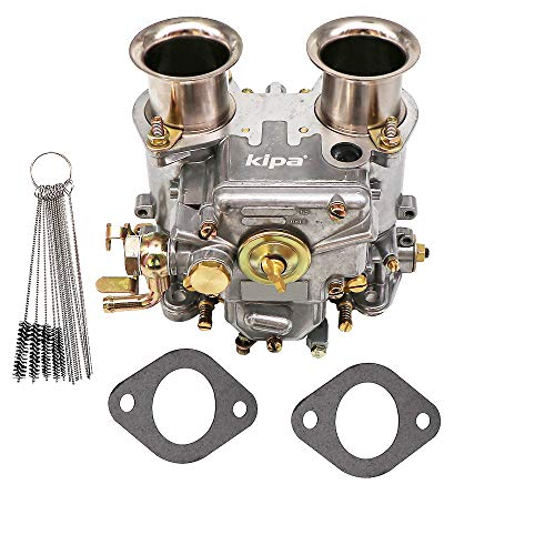 KIPA Carburetor Replace for 40 DCOE Weber 40mm Twin Choke Carb Part Number 19550.174 Fit 1975-1992 VW water cooled 8V Engines