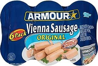 Armour Vienna Sausage, Original, 4.6 Ounce, 6 Count