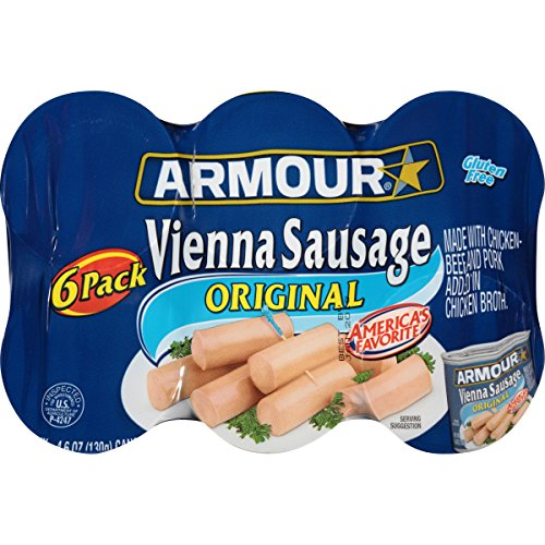 Armour Vienna Sausage, Original, 4.6 Ounce, 6 Count