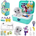 TEUVO Pet Care Play Set Doctor Kit for Kids, 16 Pcs Doctor Pretend Play Vet Dog Grooming Toys Puppy Dog Carrier Feeding Dog Backpack Gifts for Girls Boys 3-7 Years Old by TEUVO