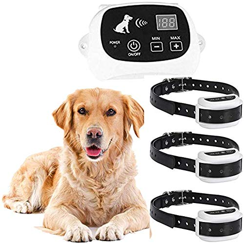 Wireless Dog Fence Electric Pet Containment System, Safe Effective, Adjustable Control Range & Display Distance,Suitable for Small, Medium, Big Dogs with Rechargeable Receiver Collar(for1/2/3dogs),for