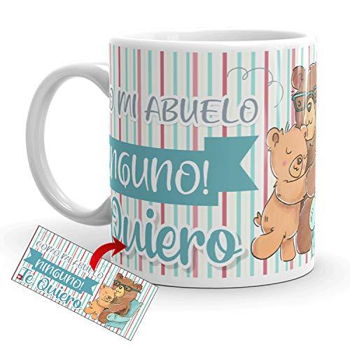 Kembilove Taza Desayuno para Abuelos – Tazas Originales con mensajes Graciosos con Mensaje Como mi abuelo ninguno, Te quiero – Taza de Café y Té para Abuelos – Regalos Originales