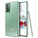 DOMAVER Samsung Note 20 Case, Galaxy Note 20 Case Clear Glitter Sparkle Bling Sparkly Shiny Cover Slim Anti-Slip Bumper Flexible Durable Shockproof Protective Phone Cases for Samsung Galaxy Note 20
