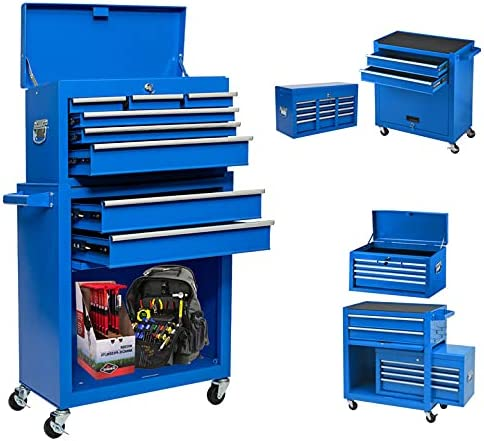 8-Drawer Garage Tool Chest Box and Remo NEW before selling ☆ Wheels Very popular with Drawers