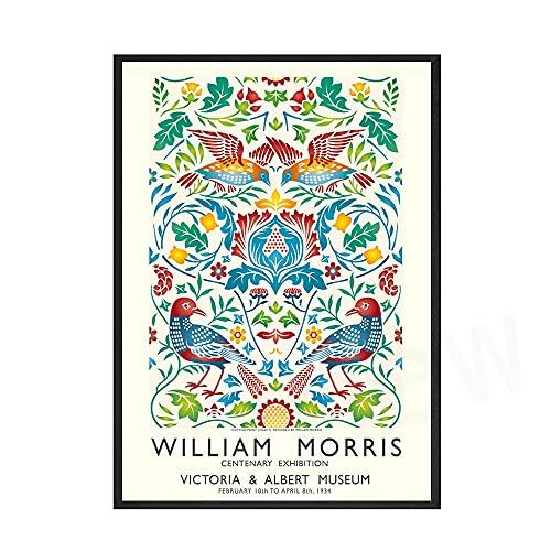 Carteles e impresiones Vintage de William Morris, impresiones abstractas florales de fresa, cuadro artístico para pared, pintura en lienzo sin marco, A 60x80cm