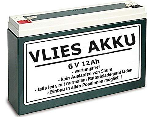 Wartungsfreie 6V 12Ah Vlies Batterie für Simson S50, S51, S70, S53 inkl. 7,50EUR Pfand