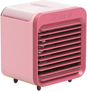 Dinah - Mini ventilador de escritorio portátil con USB, recargable, refrigerado por agua, para el hogar al aire libre