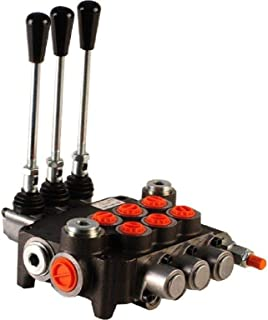 3 spool hydraulic directional control valve 11gpm, monoblock, cast iron, BSP ports