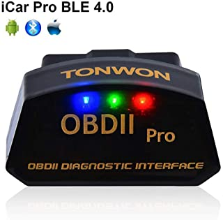 Car Bluetooth OBD2 Code Readers, TONWON OBDII Bluetooth Scan Tool ELM327 Car Diagnostic Tool Vehicle Scanner for iOS and A...